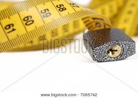 The Padlock On Sewing Yellow Metre