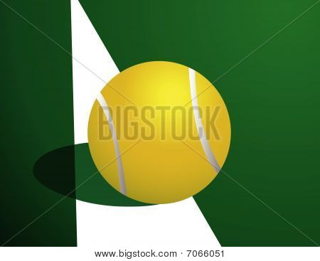 Tennis ball, out