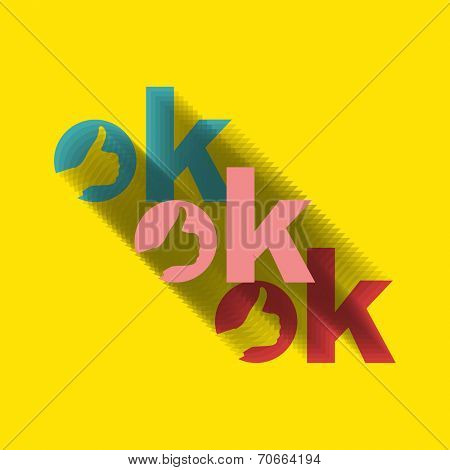 OK hand symbol. OK sign icon. Vector illustration.