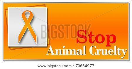 Stop Animal Cruelty Orange