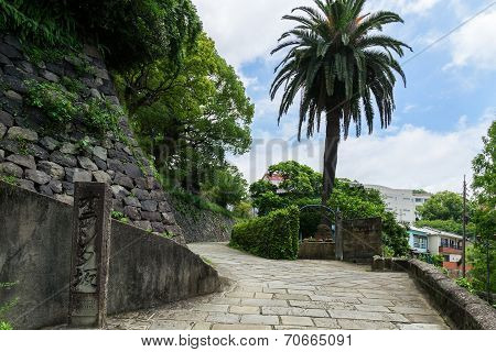 Dutch Slope (Oranda-zaka) in Nagasaki, Japan