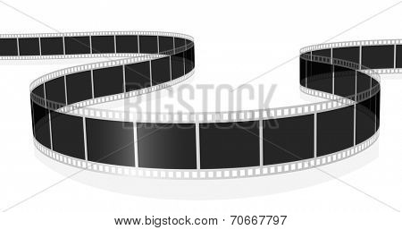 Illustration of standard photo or movie film isolated on white background.