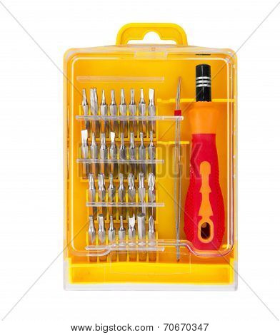 Screwdriver Set Isolated On White Background