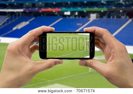 Hans Takes A Picture The Football Stadium