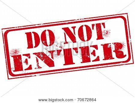 Do Not Enter Stamp