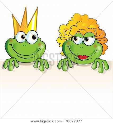 Couple Frog Cartoon