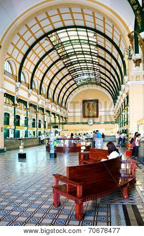 Ho Chi Minh Post Center Interior