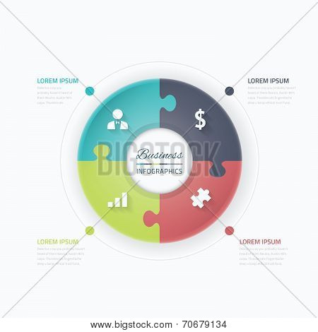 Jigsaw puzzle piece vector business metaphor for conneting