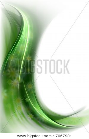 Spring Concept, Green Veil Of Flowers