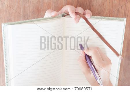 Woman Pay Attention Of Writing