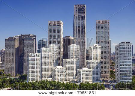 Bejing, China CBD city skyline.