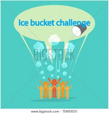 Ice Bucket Challenge Concept.