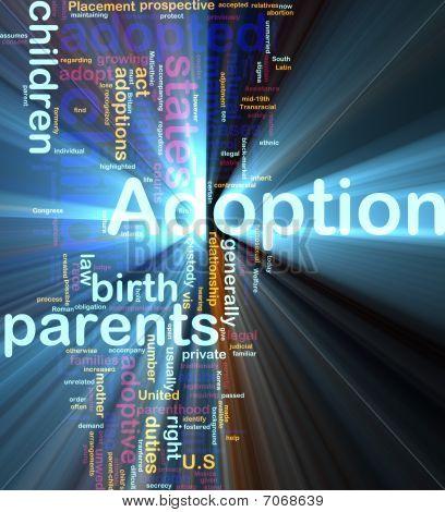 Adopción palabra nube brillante