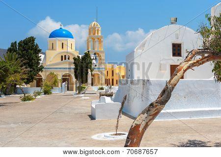 Orthodox Church. Oia, Santorini, Greece