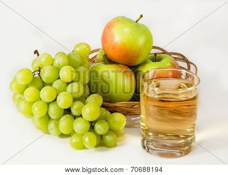 Juice, Green Grapes And Apples