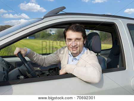 Relaxed Car Driver