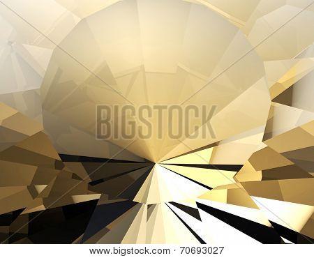 Background of jewelry gemstone. Facet. Cognac diamond