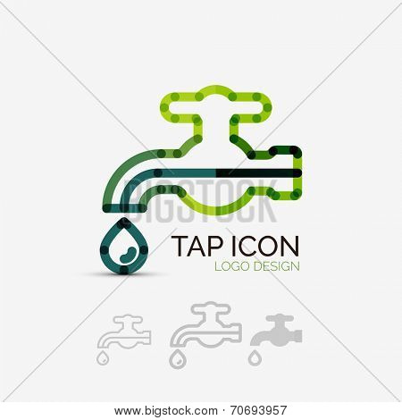 Vector icon, tap company logo design, business symbol concept, minimal line style