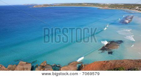 Ansicht der wunderschönen weißen Sandstrand, Australien