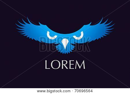 bird freedom strength symbol - vector