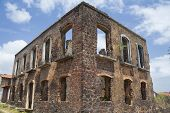 image of tourist-spot  - ruins of a historic building in the city of alcantara - JPG