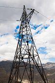 pic of electricity pylon  - metal electricity pylon transmit electricity on the sky background city - JPG