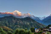picture of cloud formation  - Ghandruk village in the Annapurna region - JPG