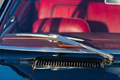 stock photo of wiper  - Windscreen and wiper blade of classic car - JPG