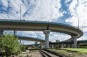 image of underpass  - Underpass over the railway in Moscow - JPG