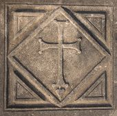 pic of dalyan  - Cross in Kaunos Church - JPG