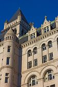 image of old post office  - Architectural details of Old Post Office building in Washington DC - JPG