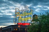 image of portland oregon  - Famous Old Town Portland Oregon neon sign in the night - JPG