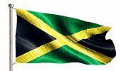 stock photo of jamaican flag  - Jamaica National Flag Isolated 3D White Background - JPG