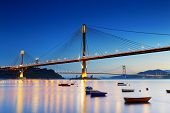 image of hong kong bridge  - highway bridge - JPG