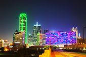 foto of texas  - Dallas Texas cityscape at the night time - JPG