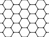 pic of uncolored  - Design seamless monochrome hexagon geometric pattern - JPG
