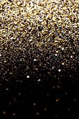 image of glitter sparkle  - Christmas Gold and Silver Glitter background - JPG