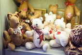 pic of minion  - Street sales stand with teddy bears handmade - JPG