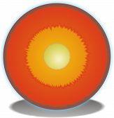 image of outer core  - A Cross Section of the Earths Core - JPG