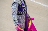 image of bullfighting  - Detail of a bullfighter suit in the bullfight - JPG