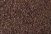 stock photo of coffee crop  - Background image of many coffee beans filling the picture - JPG