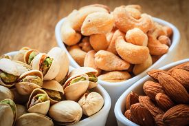 pic of mixed nut  - Healthy food and cuisine - JPG