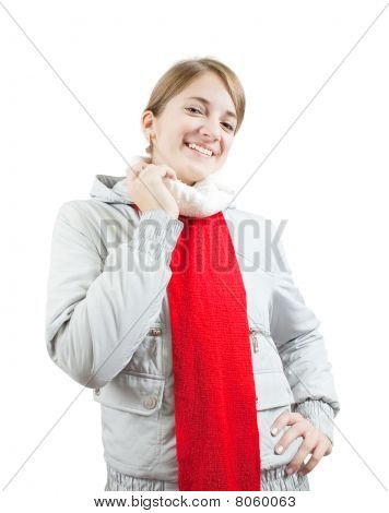 Girl  In Wintry Clothes