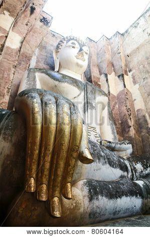 Phra Achana in Wat Si Chum at Sukhothai Historical park, Thailand,