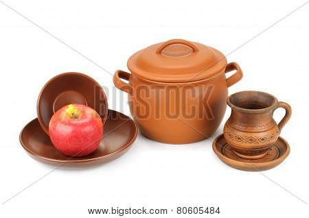 Set Of Earthenware Crockery