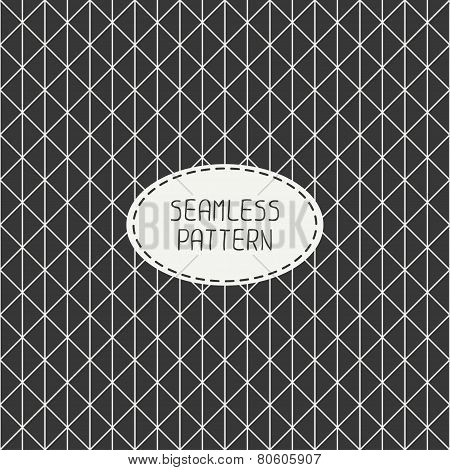 Vector seamless retro vintage geometric hipster line pattern. For wallpaper, pattern fills, web page