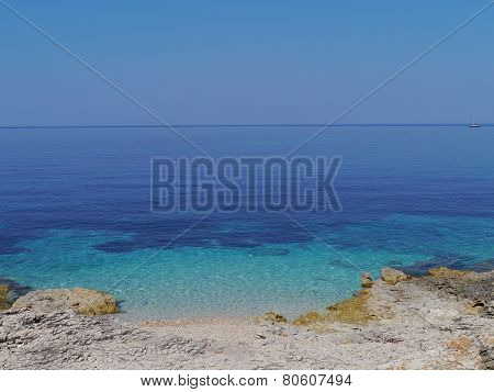 The azure blue water of Croatia