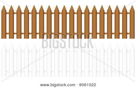 木栅栏 库存矢量图和库存照片