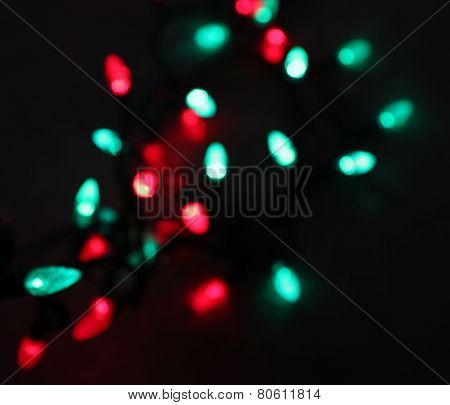 Red and Green Christmas Light String