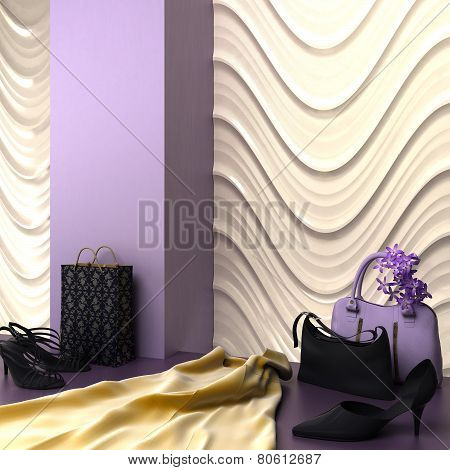 Fashion Shopping Showroom Specialty 3D Rendering